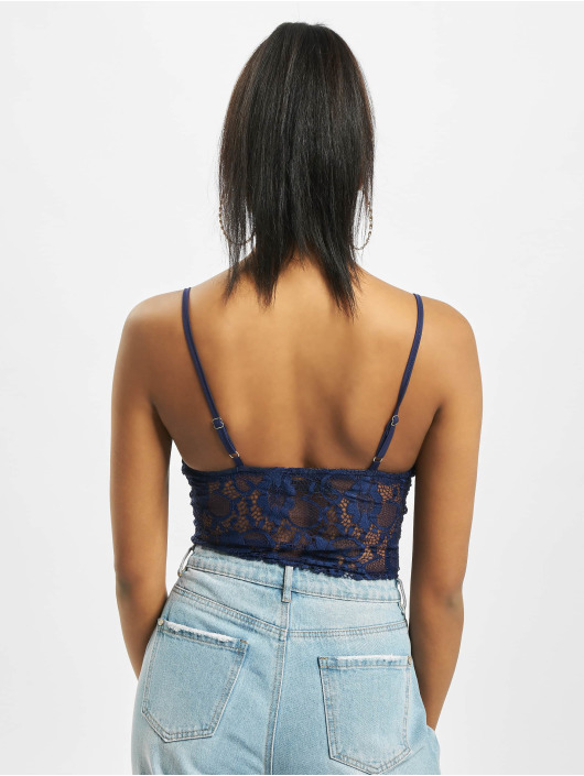 Missguided Body Petite Lace Pipe Detail modrý