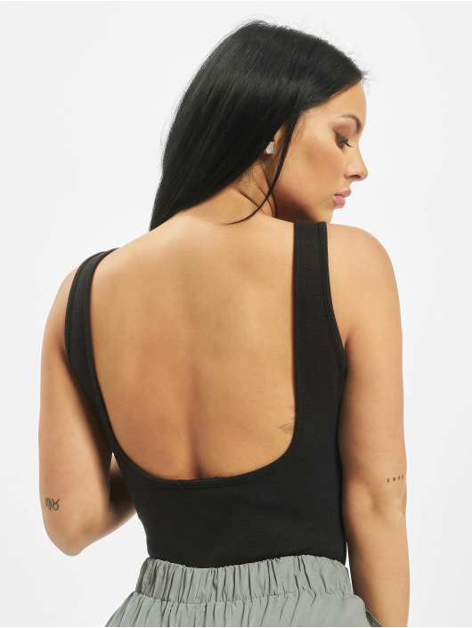 Missguided Body Square Neck Cotton Jersey musta