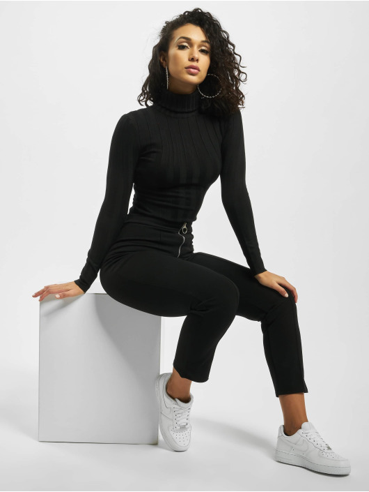 Missguided Body Petite Extreme Rib Roll Neck musta