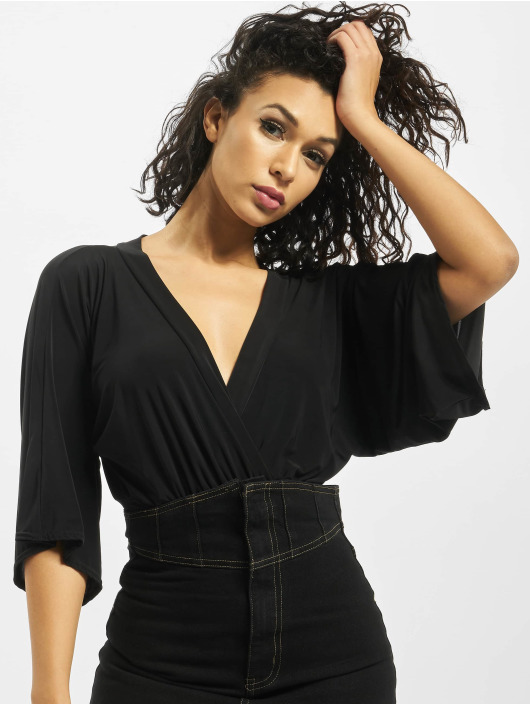 Missguided Body Soft Touch Slinky Batwing negro
