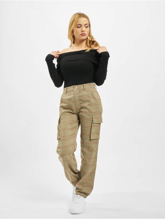 Missguided Body Extreme Fold Over Bardot schwarz