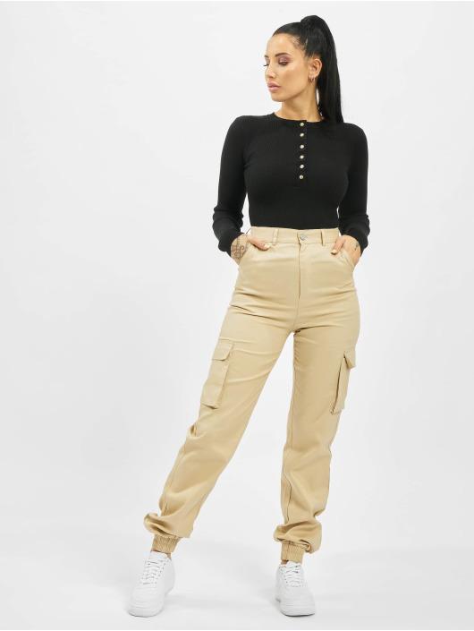 Missguided Body Tall Grandad Collar Long Sleeve schwarz