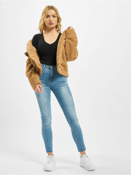 Missguided Body Ultimate Plunge Knitted svart