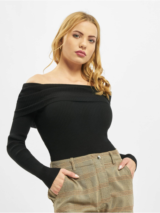 Missguided Body Extreme Fold Over Bardot svart