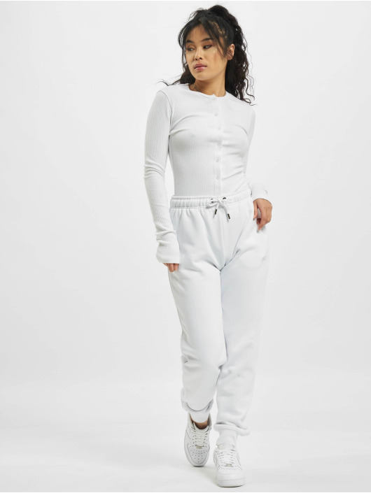 Missguided Body Tall Button Front Long Sleeve white