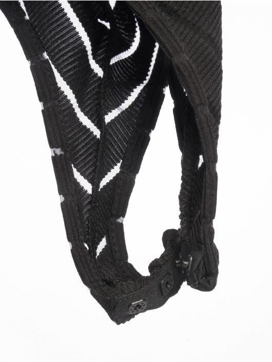 Missguided Body Long Sleeve V Neck Chevron Mesh zwart