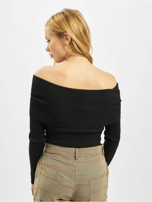 Missguided Body Extreme Fold Over Bardot zwart