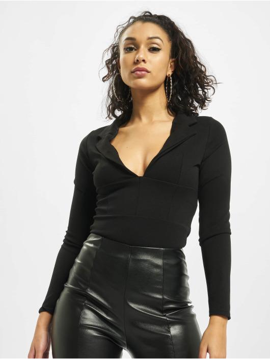 Missguided Body Collar Detail Corset Long Sleeve zwart