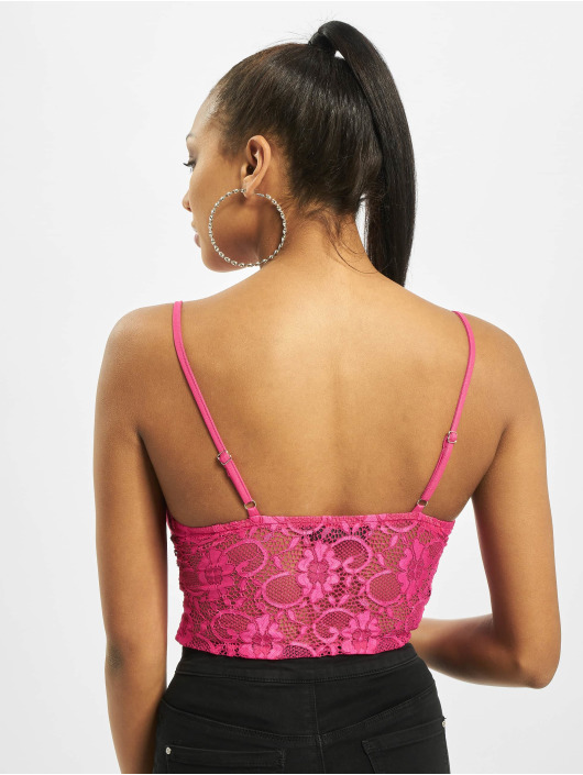 Missguided Bodystocking Lace Strappy pink