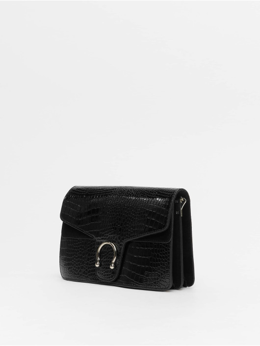 Missguided Bolso Croc Detail negro