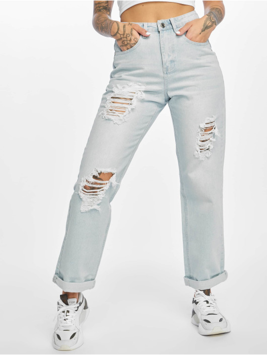 Missguided Boyfriend Jeans High Waist blå