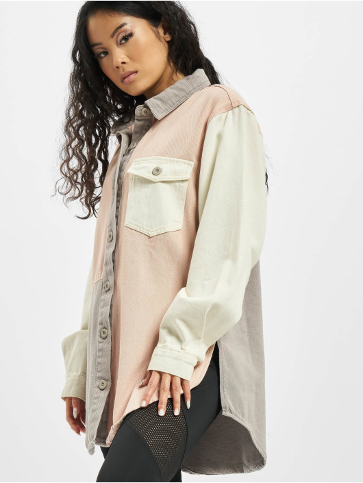 Missguided Camicia Colourblock Oversized rosa