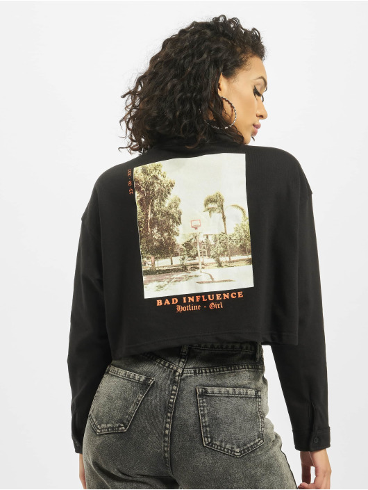 Missguided Camisa Bad Influence Jersey negro