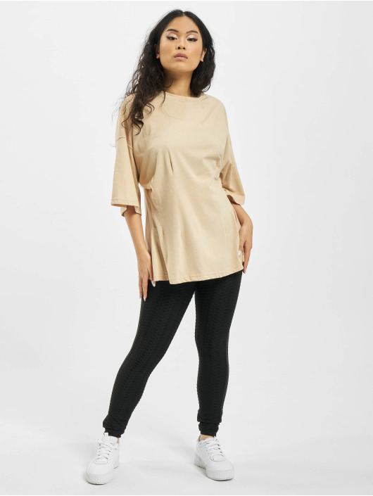 Missguided Camiseta Structured Body Oversize beis