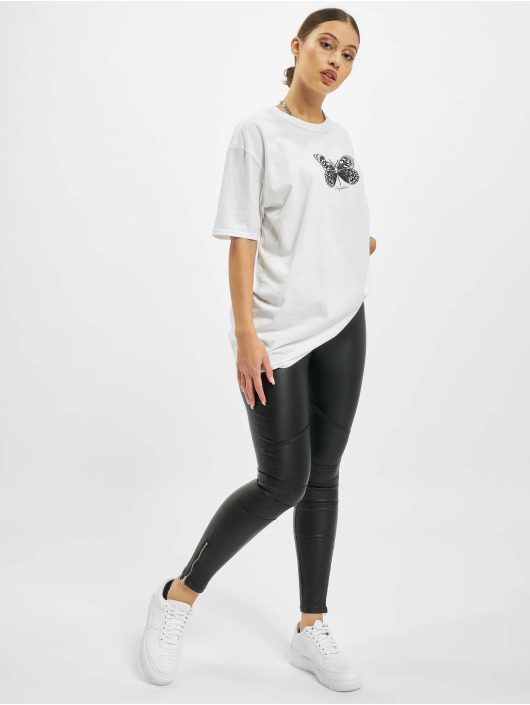 Missguided Camiseta Plus Size Butterfly Graphic blanco