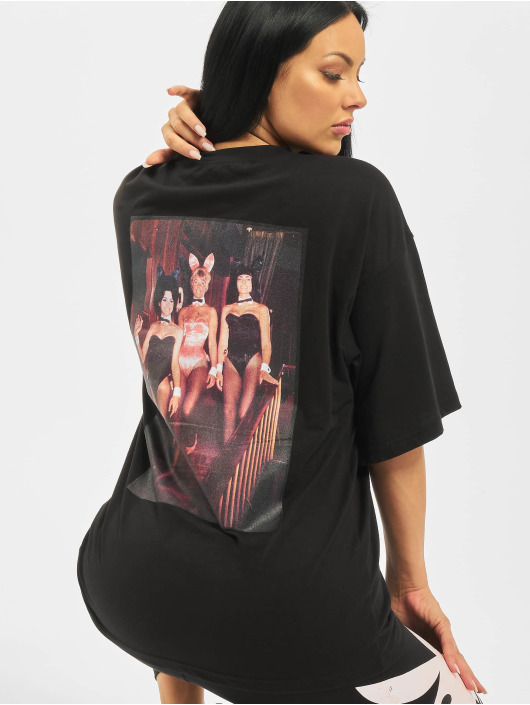 Missguided Camiseta Playboy Mansion Magazine OS negro