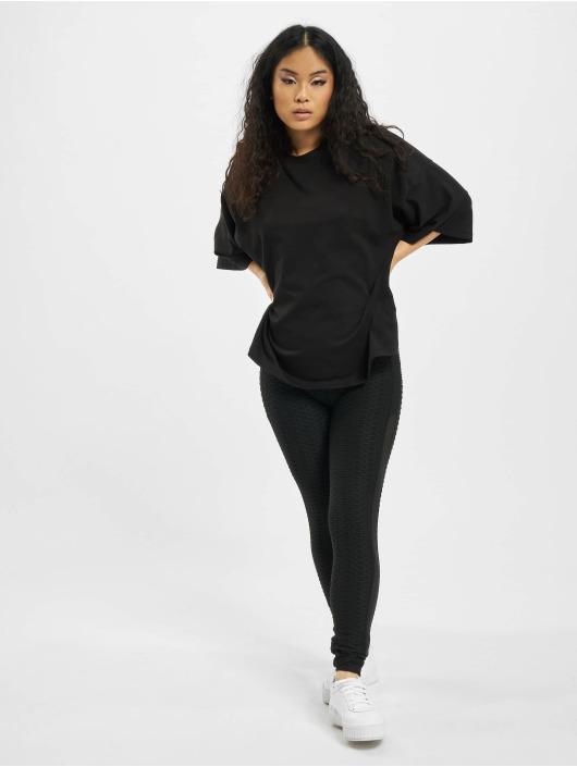 Missguided Camiseta Petite Drop Shoulder negro