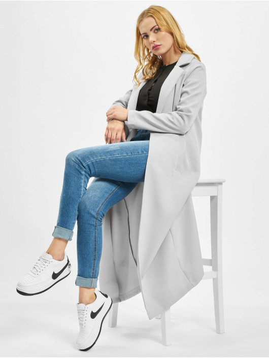Missguided Cappotto Long Sleeve Maxi Duster grigio