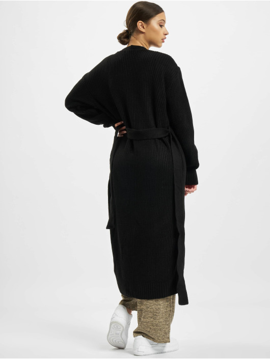 Missguided Cardigan Belted Maxi black