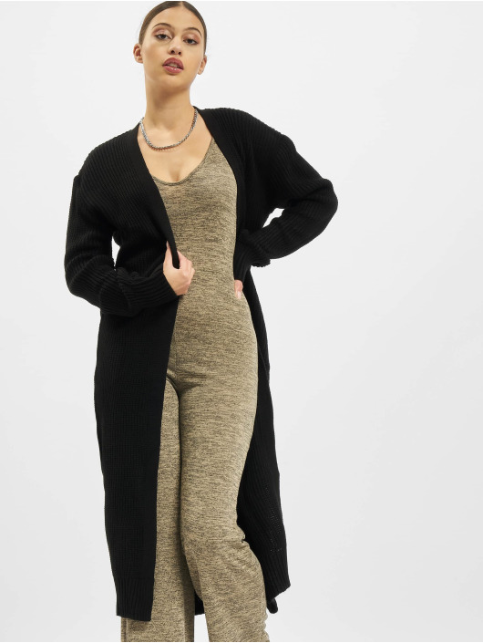 Missguided Cardigans Belted Maxi čern