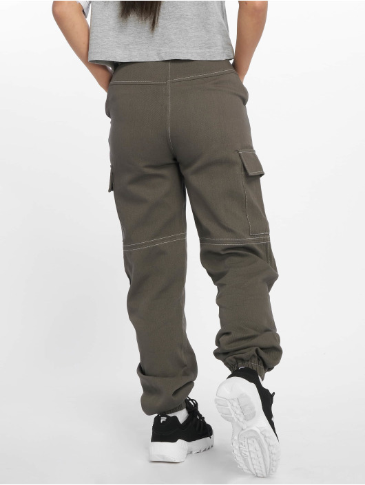 Missguided Cargo pants Sports Tape šedá