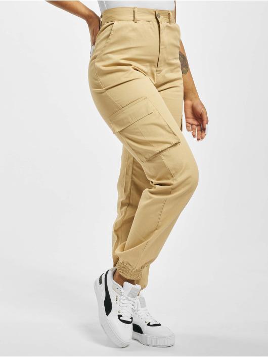 Missguided Cargo pants Plain béžový