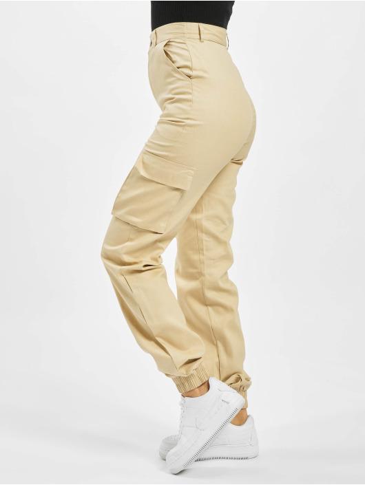 Missguided Cargo pants Tall Plain béžový