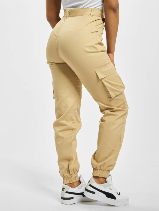 Missguided Cargo pants Plain beige