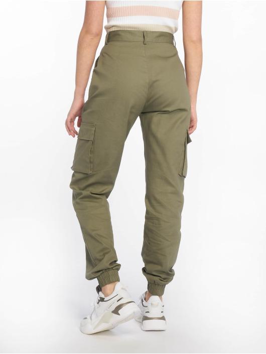 Missguided Cargo pants Plain hnědožlutý