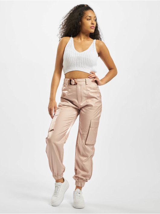 Missguided Cargo pants Tortoise Shell Belt pink