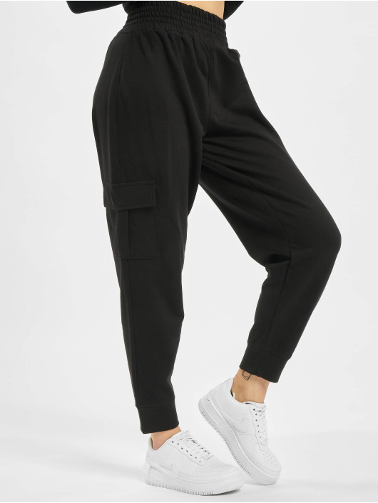 Missguided Cargo pants Premium Loopback svart