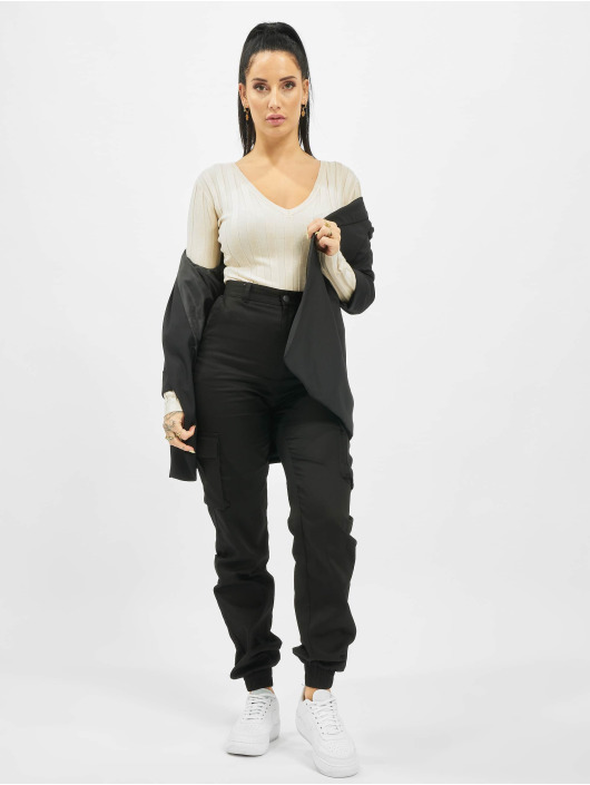 Missguided Cargo pants Tall Plain svart