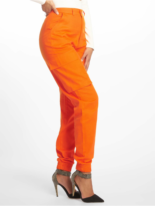 Missguided Cargobroek Plain oranje