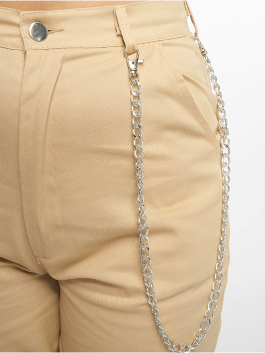 Missguided Cargobuks Chain beige