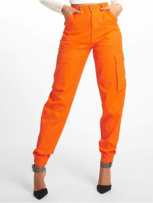 Missguided Cargohose Plain orange