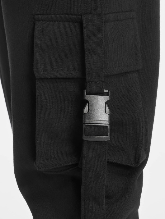 Missguided Cargohose Seat Belt schwarz