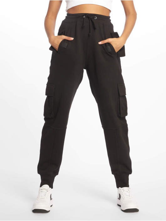 Missguided Cargohose Utility Pocket schwarz