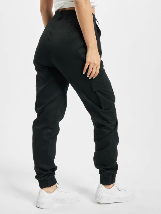Missguided Cargohose Plain schwarz
