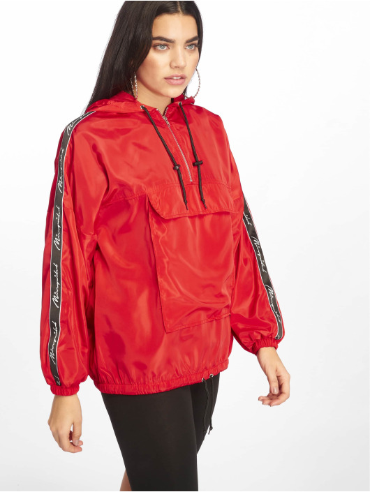 Missguided Chaqueta de entretiempo Hooded Half Zip rojo