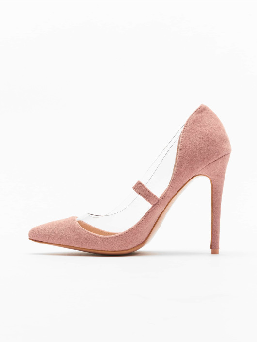 Missguided Chaussures à talon Perspex Trim Court rose