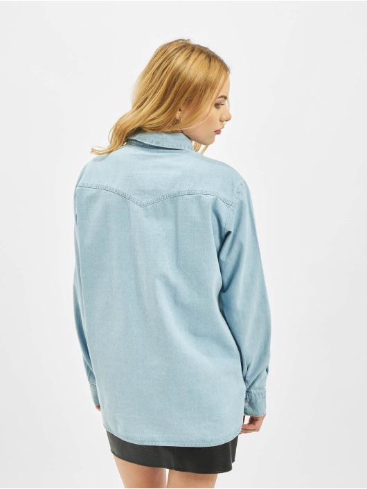 Missguided Chemise Regular Fit Denim Light Wash bleu