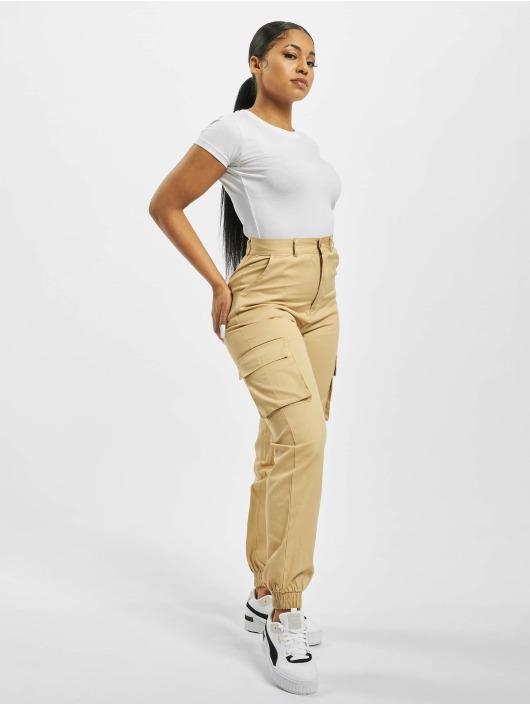 Missguided Chino bukser Plain beige