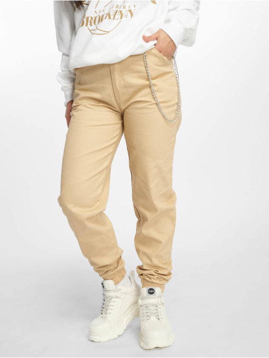 Missguided Chino bukser Chain beige