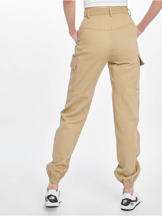 Missguided Chino bukser Sand Sports Tape beige