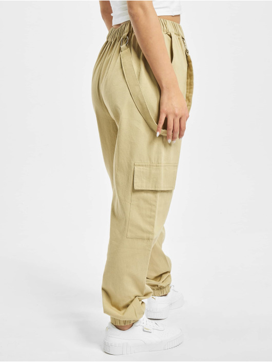 Missguided Chino bukser D Ring Strap beige