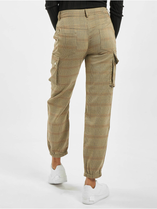Missguided Chino bukser Petite Check Cargo brun