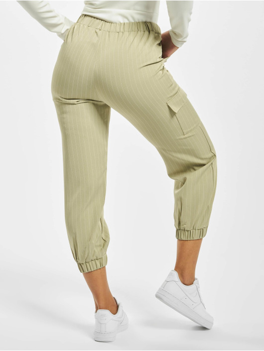 Missguided Chino Petite Pin Stripe Green Coord green