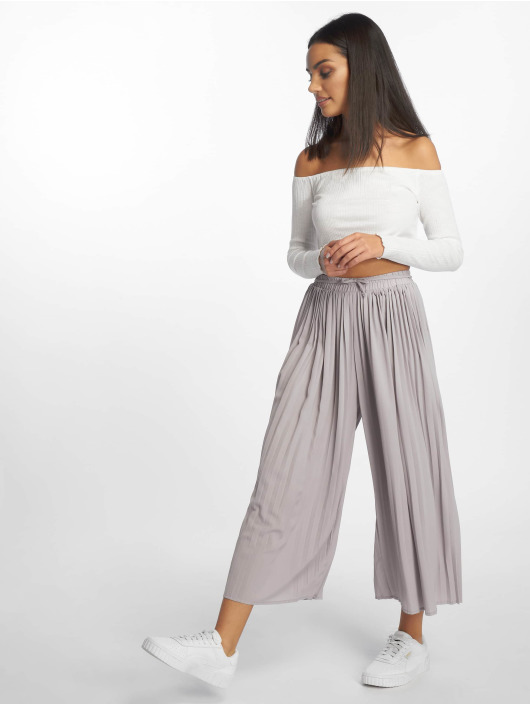 Missguided Chino Pleated Culottes grijs