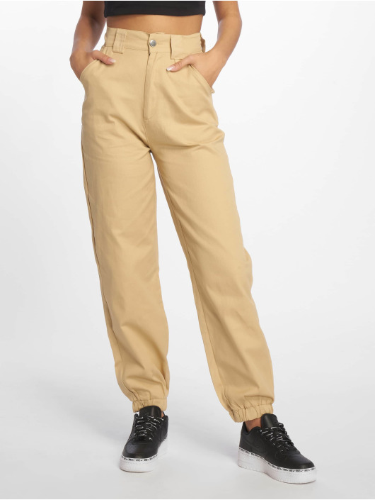 Missguided Chino pants Slim Leg beige