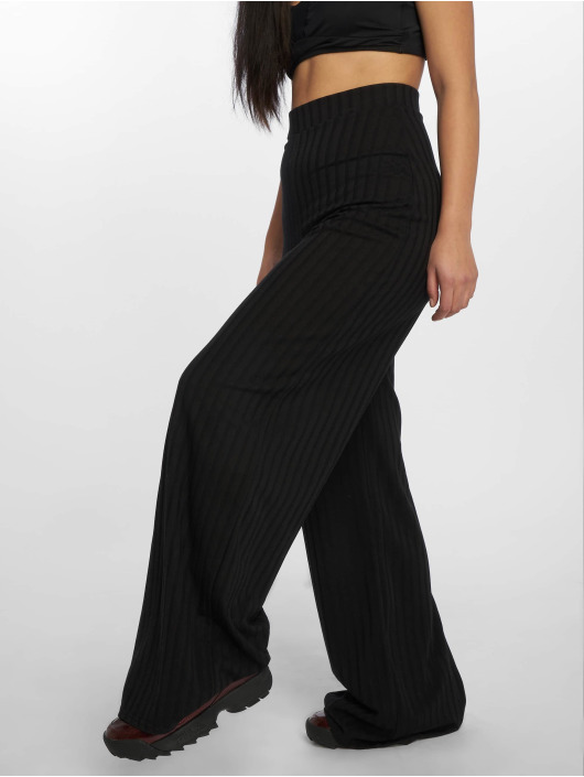 Missguided Chino pants Rib Wid black
